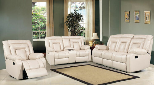 DAISY 3RR + 2RR BONDED LEATHERETTE LOUNGE SUITE - CHOCOLATE, BLACK OR PEBBLE