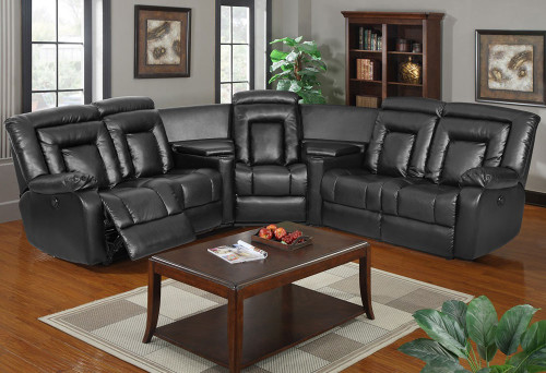 DAISY CORNER LEATHERETTE RECLINER SUITE - CHOCOLATE , BLACK OR PEBBLE