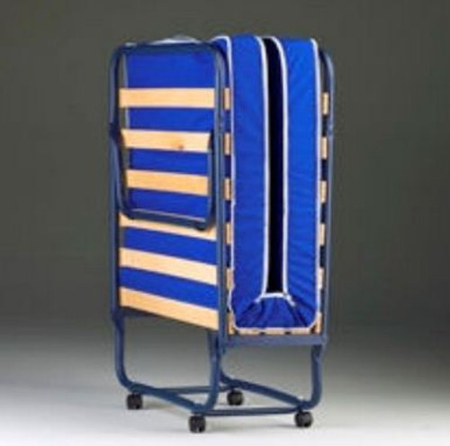 COMO FOLDING BED WITH 100MM FOAM MATTRESS - BLUE