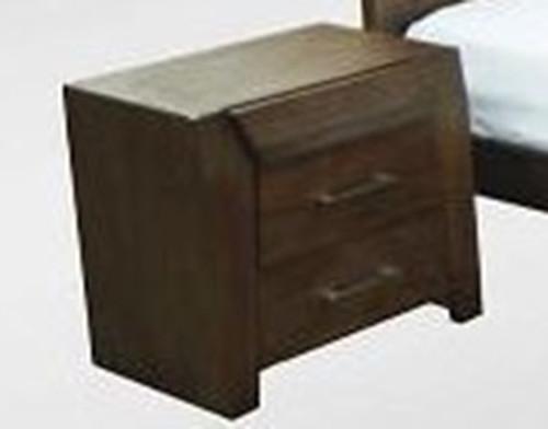 REBECCA (WD-002)  2 x DRAWER  BEDSIDE TABLE - ESPRESSO