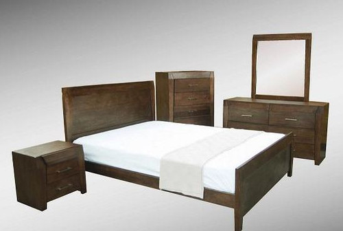 REBECCA (WD-002)  QUEEN 3 PIECE BEDSIDE BEDROOM SUITE - ESPRESSO