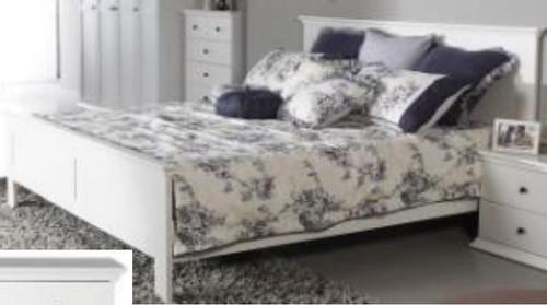 QUEEN MALVERN (WD-155) BED - SATIN WHITE