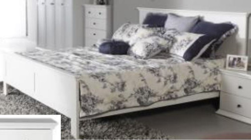 DOUBLE MALVERN (WD-155) BED - SATIN WHITE