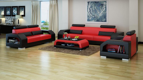 ROLDERMO (G8001D) 3 SEATER + 2 SEATER + 1 SEATER  LOUNGE + COFFEE TABLE- CHOICE OF LEATHER AND ASSORTED COLOURS AVAILABLE