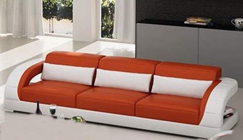 DANLILY (G8016D) 3 SEATER TOP BONDED LEATHER - CHOICE OF LEATHER & ASSORTED COLOURS AVAILABLE