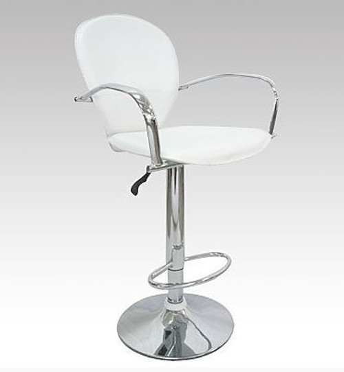 KOTEX (VIC-HS9042)  BAR STOOL WITH GAS LIFT - SEAT: 950.5 - 1170(H) -  WHITE