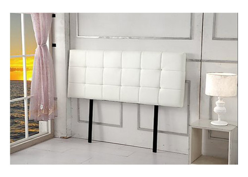 DOUBLE  DELUXE TUFTED LEATHERETTE BEDHEAD (ING-HB-18)  -  WHITE