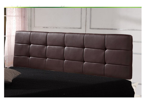 (ING-HB-23 ) KING DELUXE TUFTED LEATHERETTE BEDHEAD - BROWN