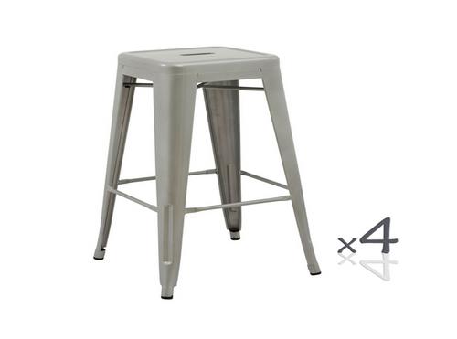 TOLIX RETRO CAFE KITCHEN BAR STOOLS (SET OF 4) - SEAT: 450(H) - BLACK