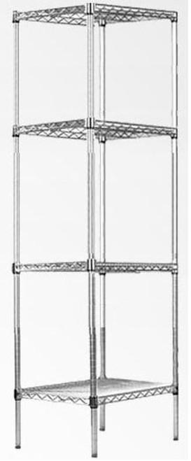 HELENIX  (MODEL-JSH-SW07) MODULAR CHROME/ WIRE SHELF (1800 x 450 x 450)
