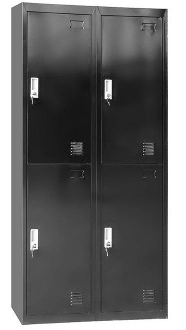 PUMBA FOUR DOOR SIDE BY SIDE OFFICE - GYM - STORAGE - SHED - LOCKERS 760(W) x 450(D) - BLACK