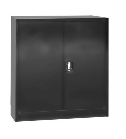 OSAVI  (LLIE26) TWO DOOR SIDE BY SIDE OFFICE - GYM - STORAGE - SHED - LOCKERS - 850(W) x 400(D)  - BLACK