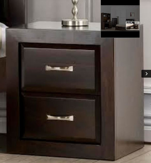 FIN  2 x DRAWER BEDSIDE  (MODEL-OR-150-2) - DARK CHOCOLATE