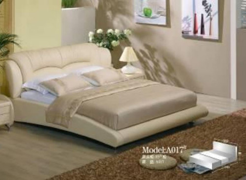 KING MARICEL  LEATHER + PVC BED (MODEL-A017) -  ASSORTED COLOURS