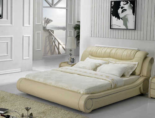 KING DUKE  LEATHER + PVC BED (MODEL- C331) - ASSORTED COLOURS