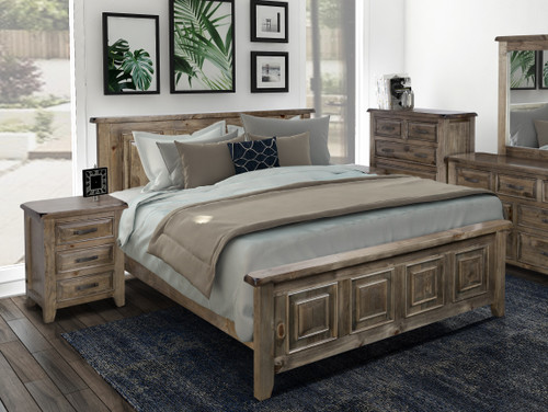 DOUBLE HERITAGES BED (HTGDB) - GREYWASH (#501)