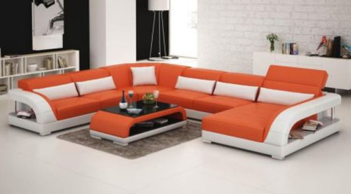DANDY BONDED LEATHER CHAISE LOUNGE SUITE( MODEL-G1109) - CHOICE OF LEATHER AND ASSORTED COLOURS AVAILABLE