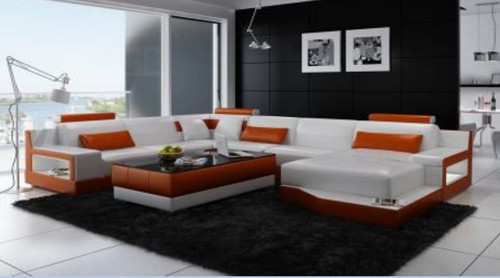 AMARA BONDED LEATHER CHAISE LOUNGE SUITE( MODEL-G1108) - CHOICE OF LEATHER AND ASSORTED COLOURS AVAILABLE
