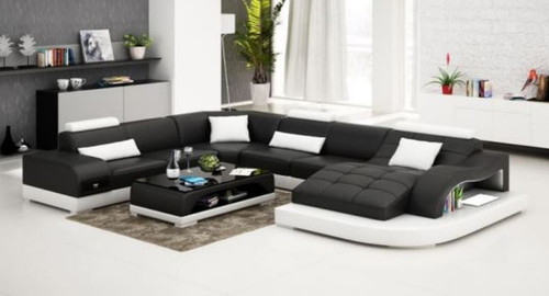 SOPHIA  BONDED LEATHER CHAISE LOUNGE SUITE( MODEL- G1105) - CHOICE OF LEATHER AND ASSORTED COLOURS AVAILABLE