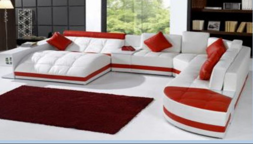RIANTA LEATHER CHAISE LOUNGE SUITE ( MODEL- G1100B) - CHOICE OF LEATHER AND ASSORTED COLOURS AVAILABLE