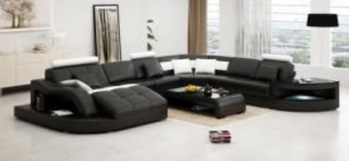 DOVIA  BONDED LEATHER CHAISE LOUNGE SUITE( MODEL- G1100) - CHOICE OF LEATHER AND ASSORTED COLOURS AVAILABLE