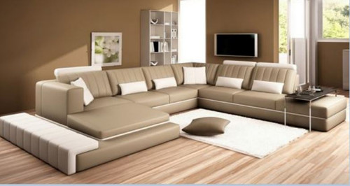 DALINGO  BONDED LEATHER CHAISE LOUNGE SUITE( MODEL- G1099) - CHOICE OF LEATHER AND ASSORTED COLOURS AVAILABLE