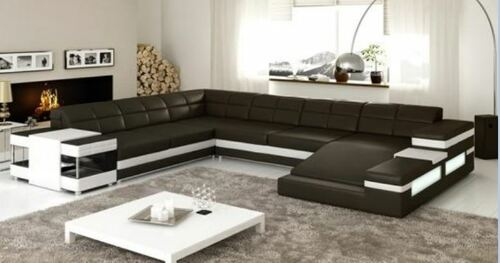 MADONI  BONDED LEATHER CHAISE LOUNGE SUITE( MODEL- G1097) - CHOICE OF LEATHER AND ASSORTED COLOURS AVAILABLE