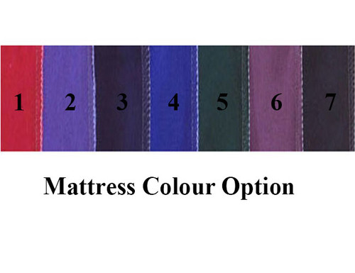 DOUBLE FUTON CRUMB FOAM MATTRESS (FELT TUFT DESIGN) - ASSORTED COLOURS - GENTLY FIRM