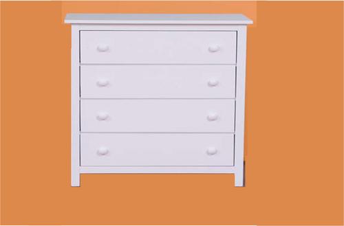 KADO 4 DRAWER TALLBOY 980(H) x 850(W) - ARCTIC WHITE (PICTURED) OR WALNUT