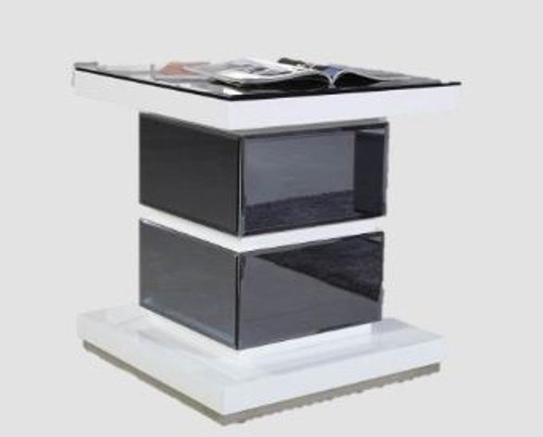 MYKONOS LAMP TABLE (GS920ST/BL) - WHITE (PICTURED) OR BLACK GLOSS