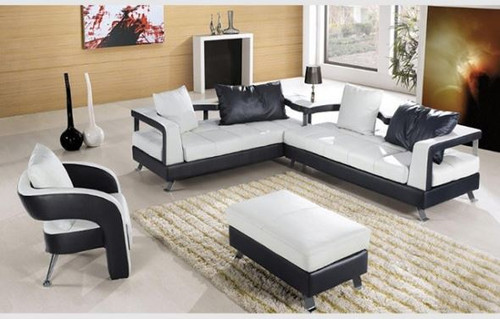 BOWANSI CORNER LOUNGE SUITE WITH COFFEE TABLE + OTTOMAN (MODEL- B2027 )   - CHOICE OF LEATHER AND ASSORTED COLOURS AVAILABLE