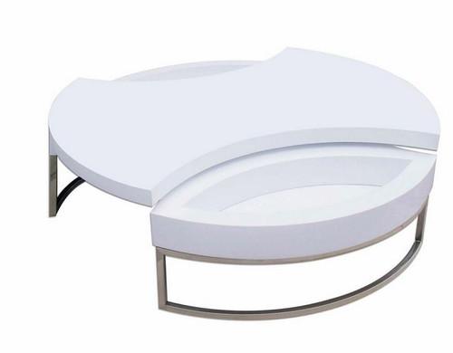 FELIX COFFEE TABLE SWIVEL (FELCT) - WHITE
