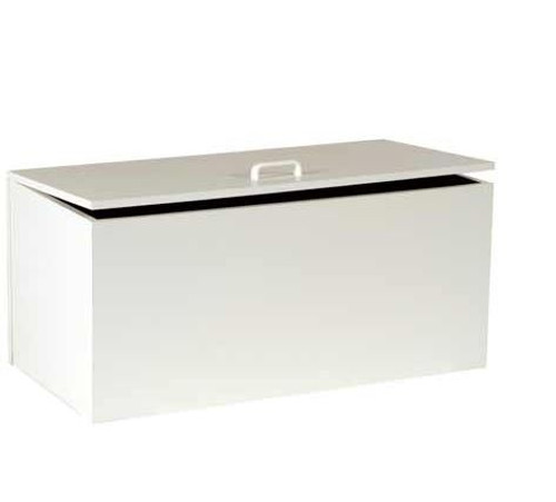 SQUARE EDGE  (STOR) STORAGE BOX 900(W) x 450(D) - WHITE OR BEECH