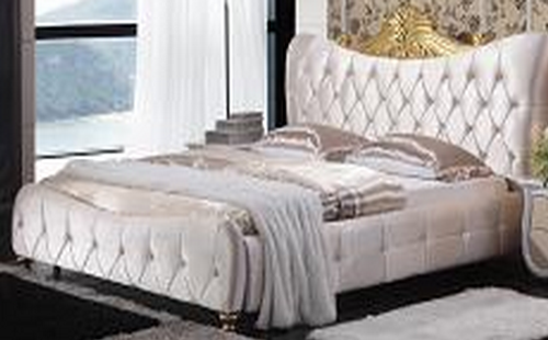 KING ANILLA FABRIC  BED  (MODEL-A06) -  ASSORTED COLOURS