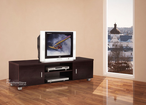 CONCORD TV PLATFORM - 420(H) X 1500(W)- WHITE (PICTURED IN WALNUT)