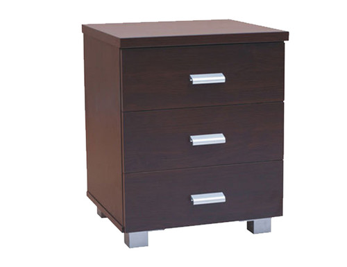 CONCORD 3 DRAWER BEDSIDE - WALNUT