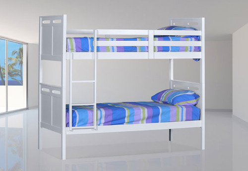 SINGLE ETHANS (MODEL 14-5-4) BUNK BED - WHITE