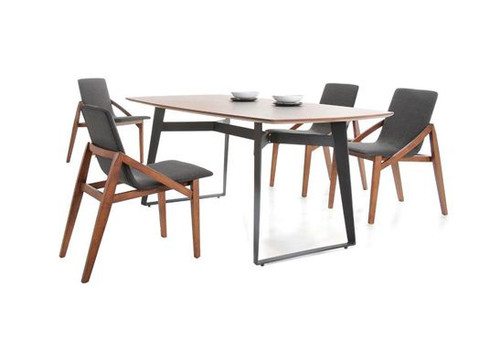 DAWANI  7 PIECE DINING  SET (MODEL- MI5071-MI320) (KIT#074) - 1800(L) x 900(W) - WALNUT VENEER / ESPRESSO CHAIR