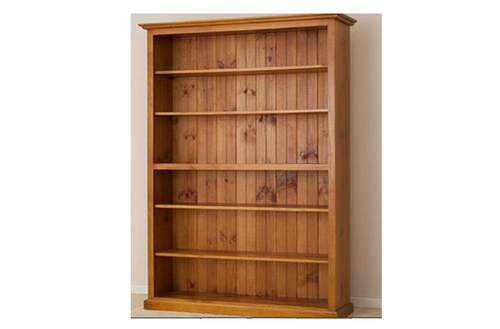 AUSSIE (7x4) ADJUSTABLE STRAIGHT TOP BOOKCASE - 2100(H) X 1200(W) - (LOCAL MADE) - ASSORTED COLOURS