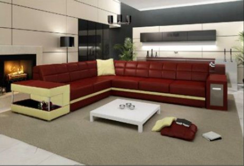FIDELIA  LEATHER  CORNER LOUNGE ( MODEL-B2008) - CHOICE OF LEATHER AND ASSORTED COLOURS AVAILABLE