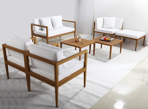 VOLA 7 PIECE OUTDOOR LOUNGE SET  WITH 2 COFFEE TABLES