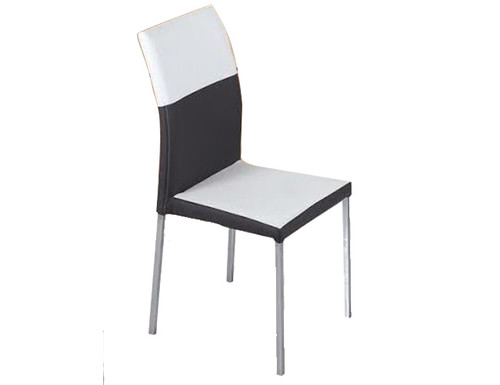 ALBERTA LEATHERETTE DINING CHAIR (C1008) - WHITE / GREY