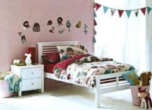 KING SINGLE NIKKI (NIKKSBWH/DW) BED ONLY ) - WHITE  OR WALNUT