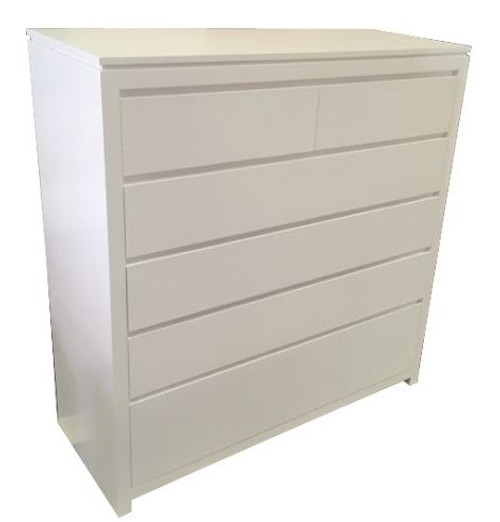 CELINE FINGER GROOVE EXTRA LARGE TALLBOY - 1200(H) x 1200(W) - AVAILABLE IN ANTIQUE  WHITE OR WHITE COLOUR