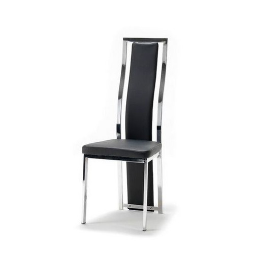 CINDY (XINDC16)  LEATHERETTE  DINING CHAIR - BLACK OR WHITE