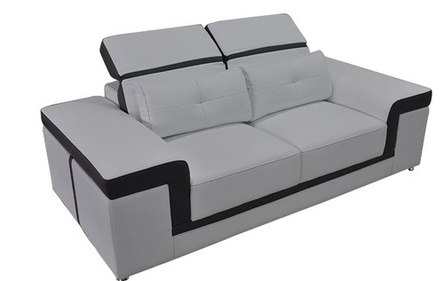 FLORAN (G8020D)  2 SEATER SOFA  B - ITALIAN TOP GRAIN LEATHER + PVC - CHOICE OF LEATHER AND ASSORTED COLOURS AVAILABLE