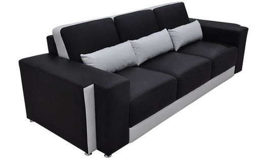 SASHIVA (G8019D)  3 SEATER SOFA - CHOICE OF LEATHER AND ASSORTED COLOURS AVAILABLE