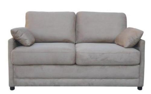 SOFTEE (V-3040) FABRIC DOUBLE SOFA BED - COBBLESTONE