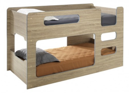 SINGLE OVER SINGLE DOMINO LOWLINE CABIN STYLE BUNK BED - ASSORTED COLOURS