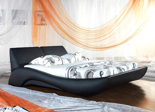 DOUBLE TERNI (V2#) LEATHERETTE BED - ASSORTED COLOURS AVAILABLE